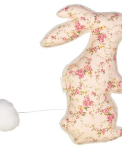 lapin floral rose - queue tirée